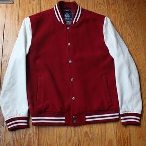 American Rag Large Red and White Varsity Jacket